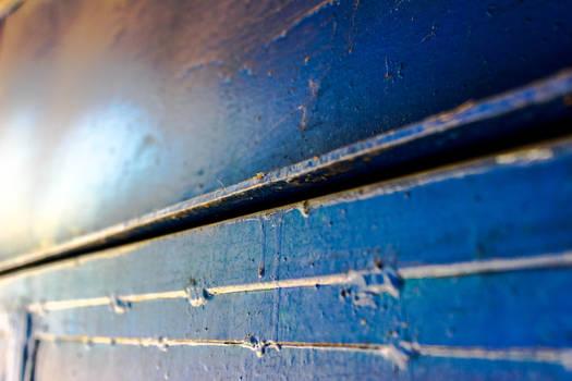 Blue-metallic door texture-macro-thing