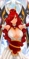 praise your queen  // Erza Scarlet Wingblade armor