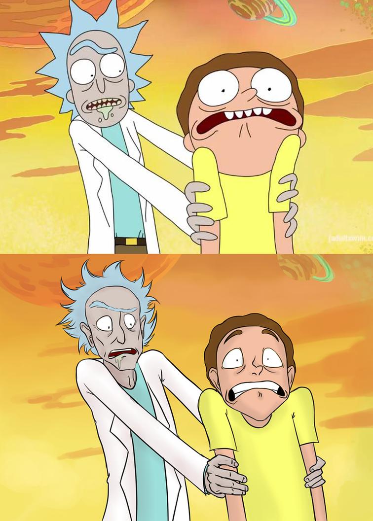 Rick and Morty - scene redraw by Koekjen