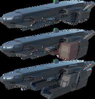 Noachis-class Freighter by TurinuZ