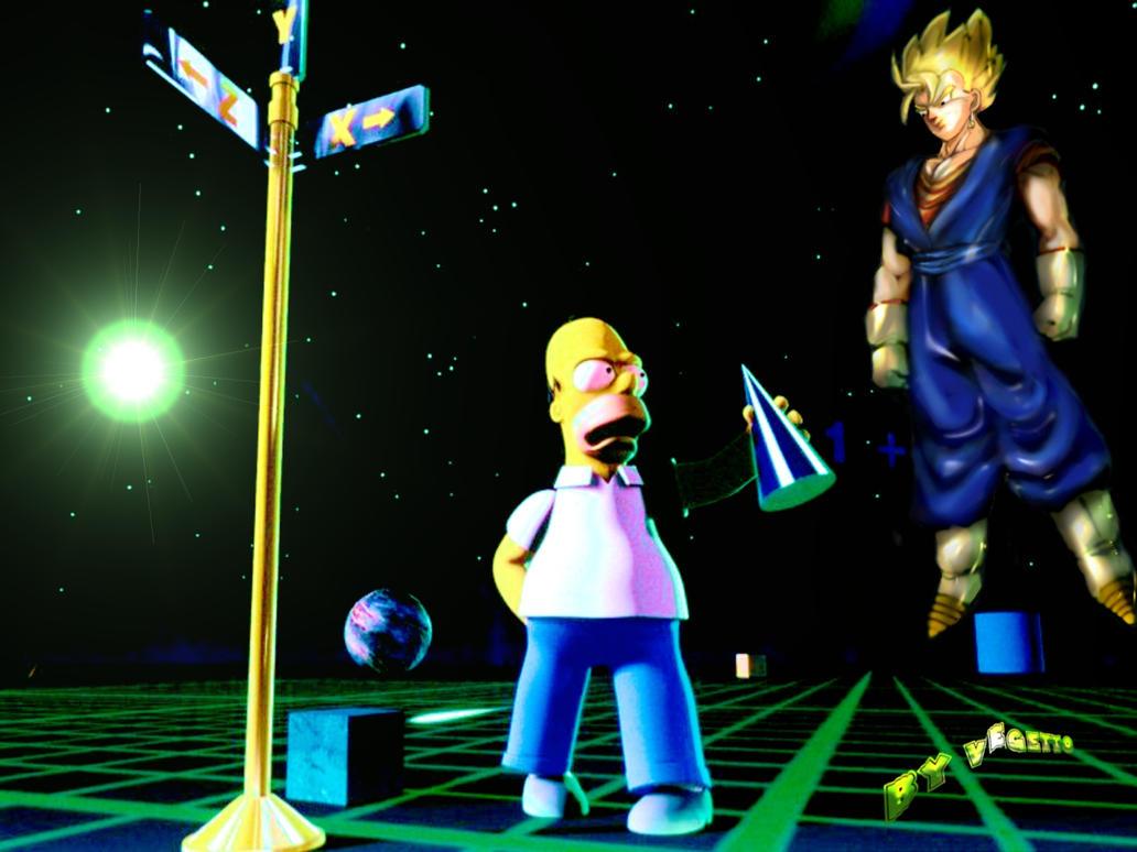 Homer meets Vegito 2.5D by vegetto-vegito