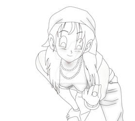 Pan takes a photo for her facebook DBZ