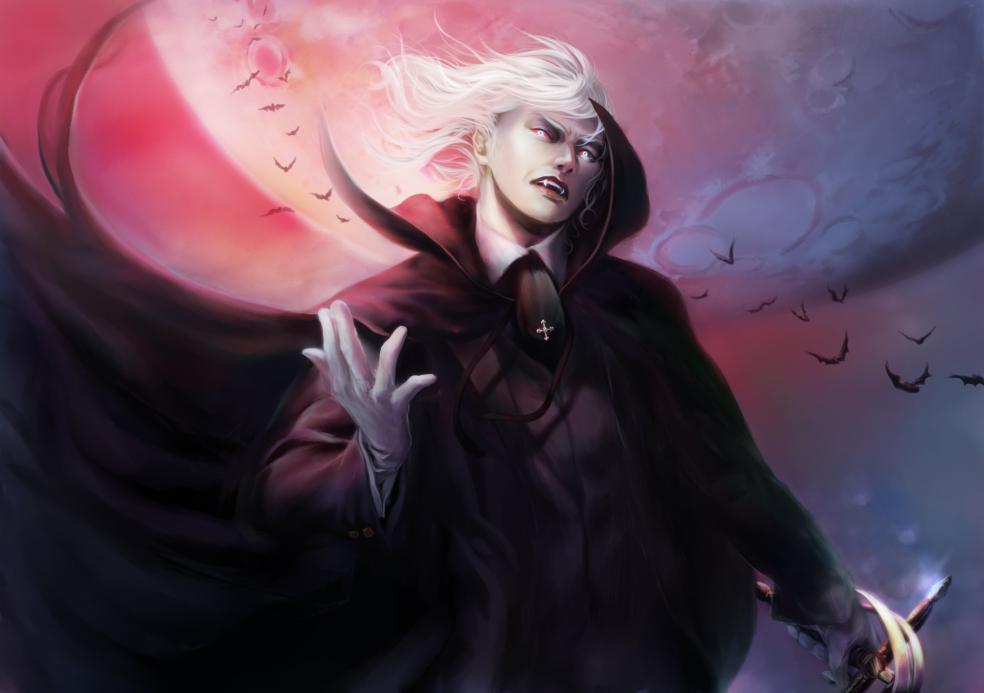 A Vampire Of The White Hair By Flyhi Tokiwa On Deviantart