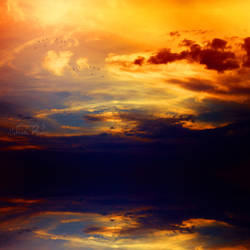 burning sky by leelloor