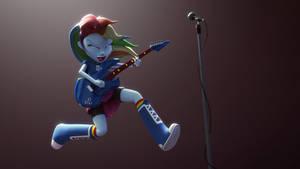 Rainbow Dash with Guitar