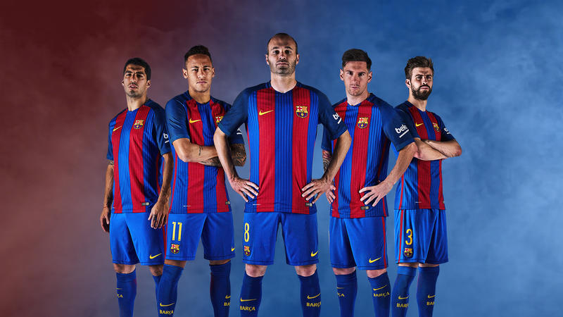 New Barcelona Kit 2017 With A Simple Background By Zyaddarwish