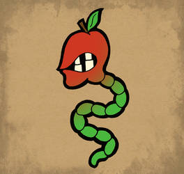 Apple Worm by Fosilly