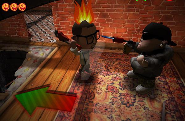 Jiggy Drama on fire by HigueraStudios