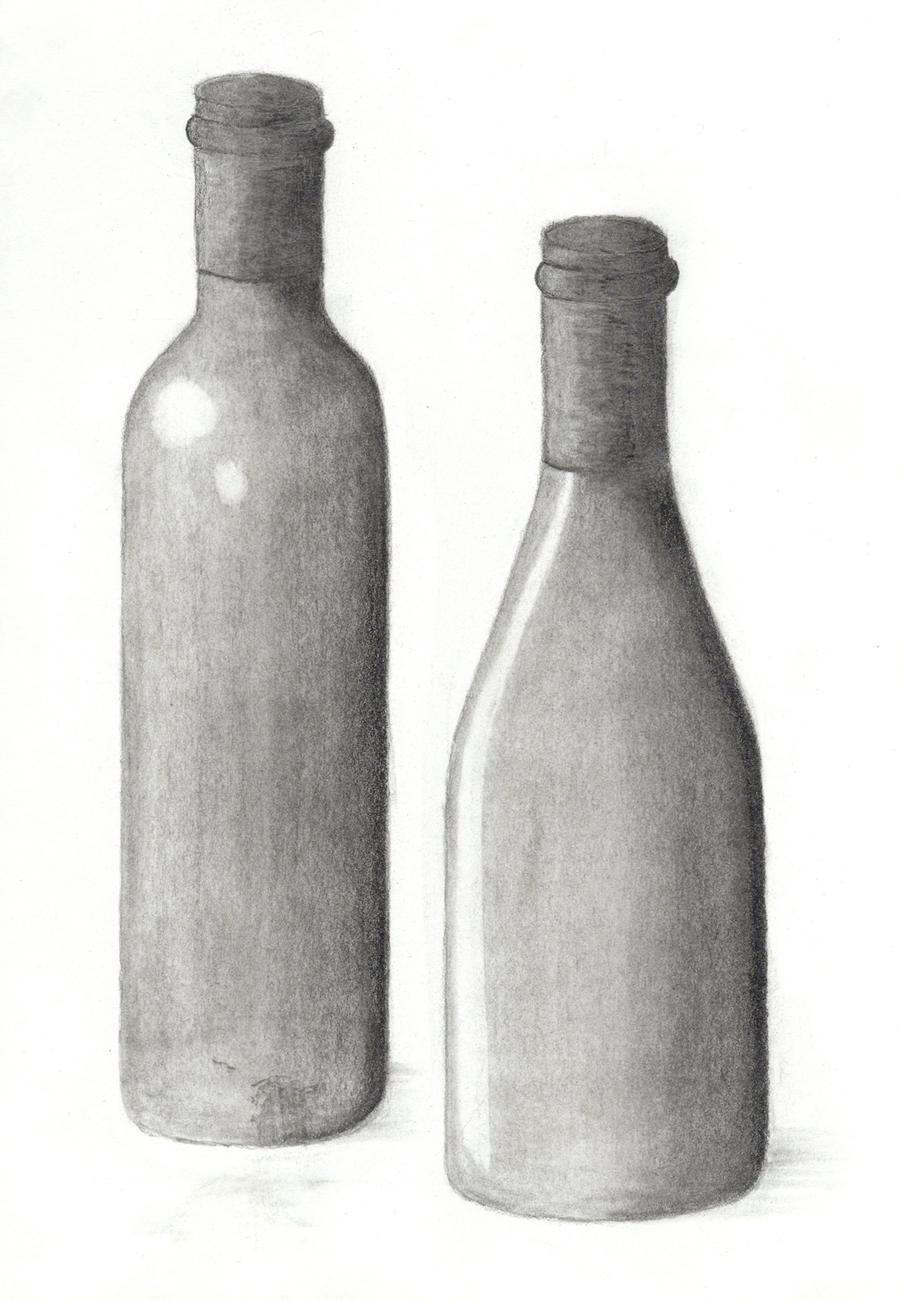 Drawing 101 - Wine Bottle 3 by xycolsen on DeviantArt