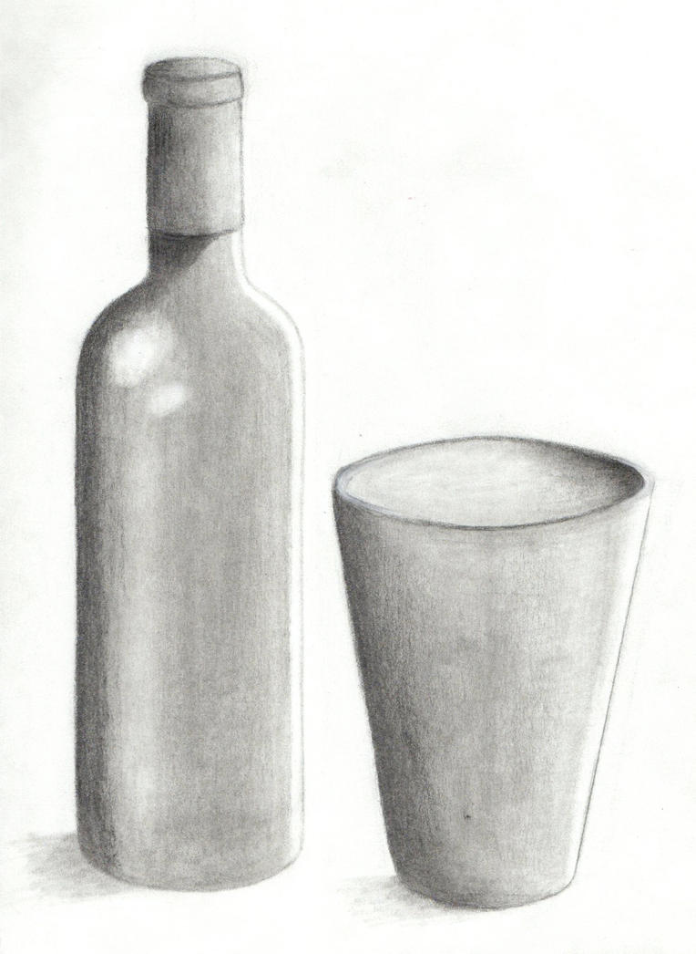 Drawing 101 - Wine Bottle 4 by xycolsen on DeviantArt