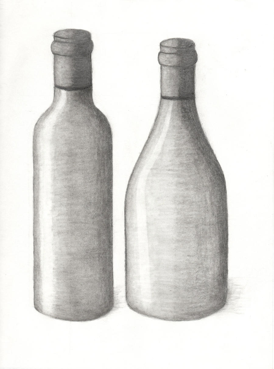 Drawing 101 - Wine Bottle 2 by xycolsen on DeviantArt