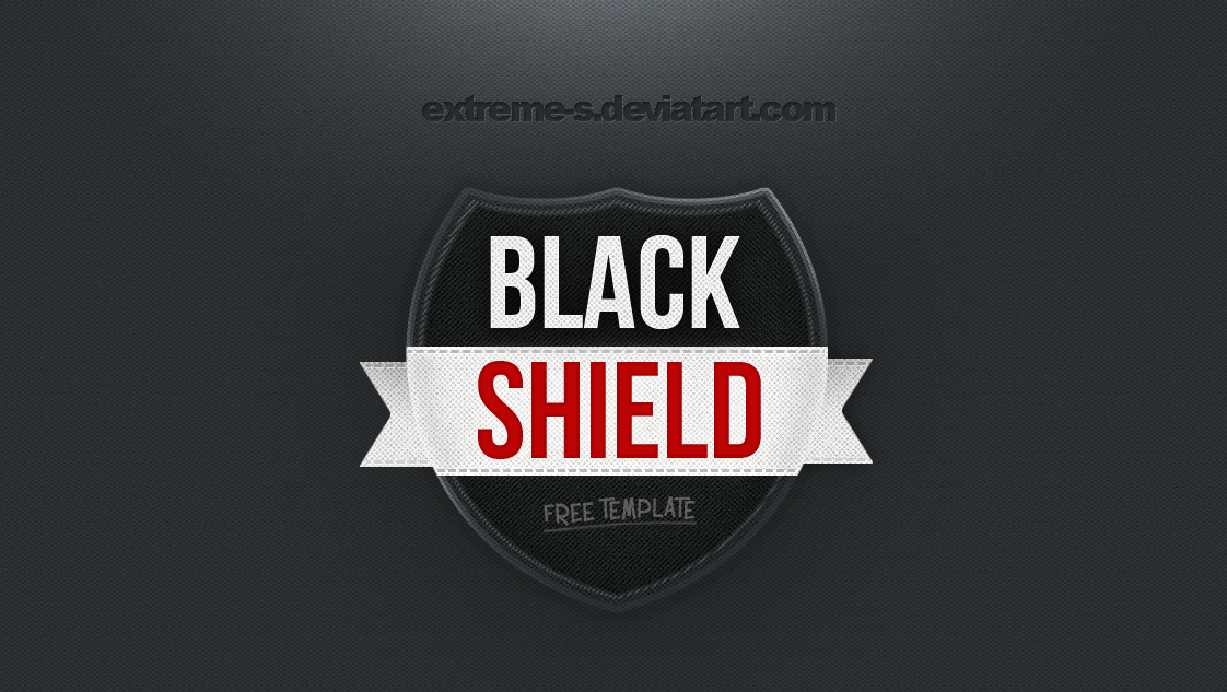 Black Shield Logo template [PSD] by EXtreme-S on DeviantArt