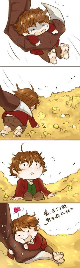 [THE HOBBIT]Smaug and Bilbo Baggins