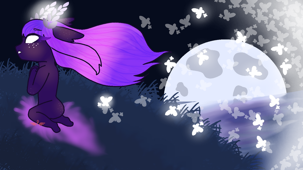 Dta I SuperMoon by Pastelwingz
