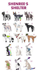 Adoptables (14/15 OPEN) by Shenree