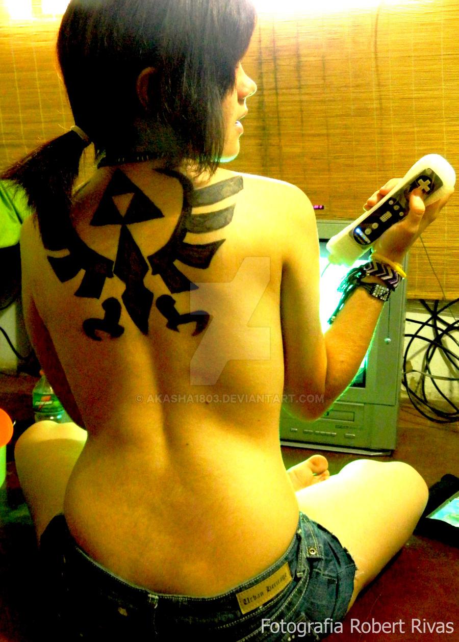 Zelda Triforce yuki1 by Akasha1803