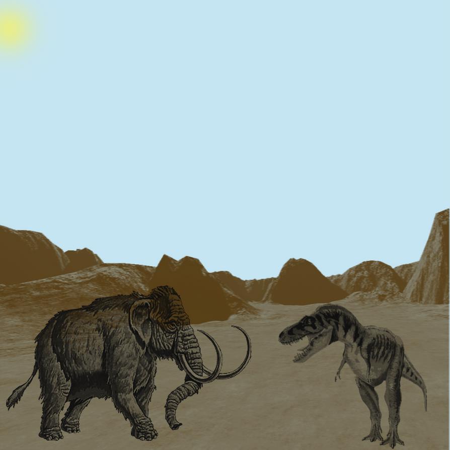 T-Rex VS Mammoth by origa-sensei on DeviantArt