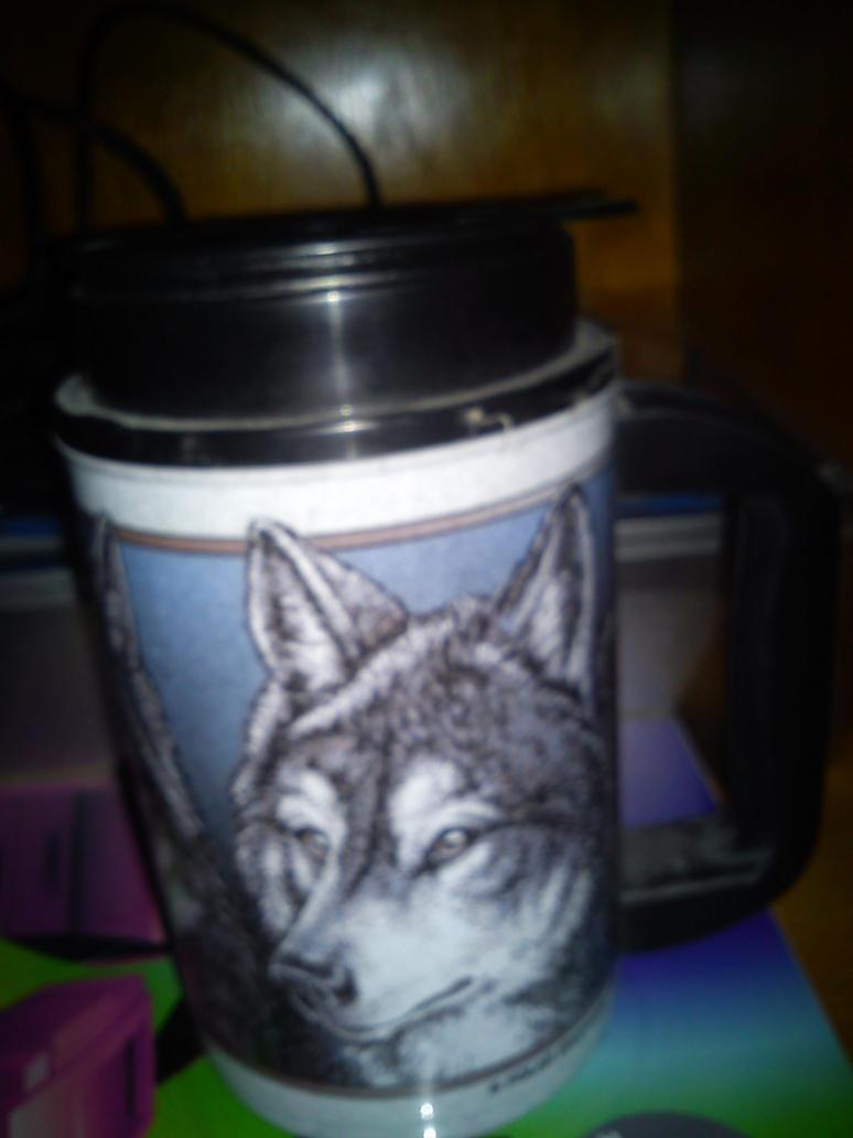 wolf mug by daylover1313