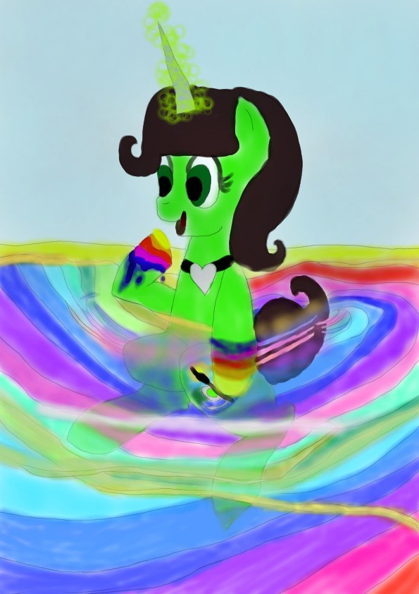 My Oc Take A Bath In Her Own Wings by daylover1313
