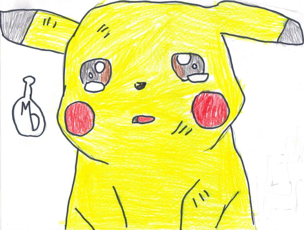 Pikachu crying drawing - photo#13
