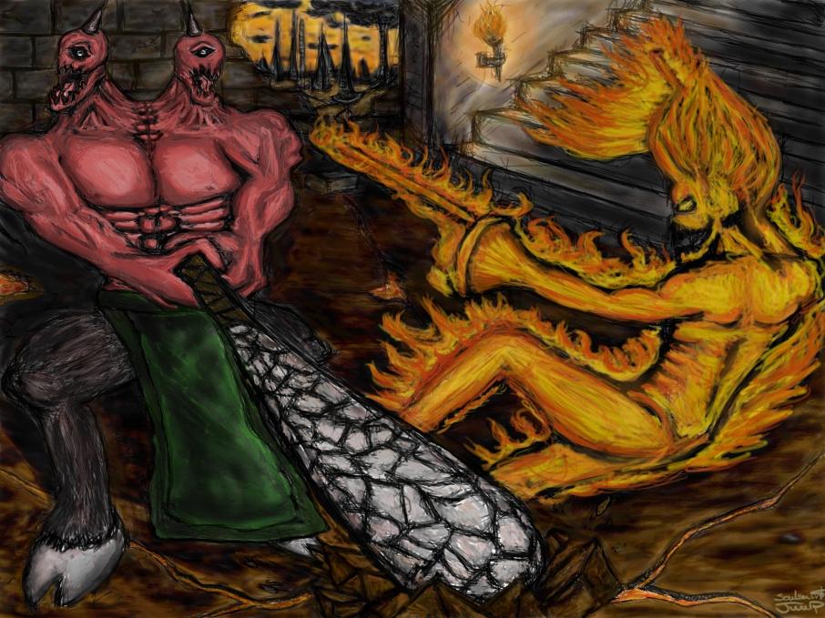 Killer Instinct - Eyedol vs Cinder by TheWiseWeirdProphet