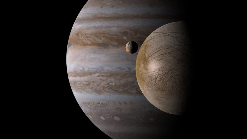 Jupiter, Io and Europa by Niko22966