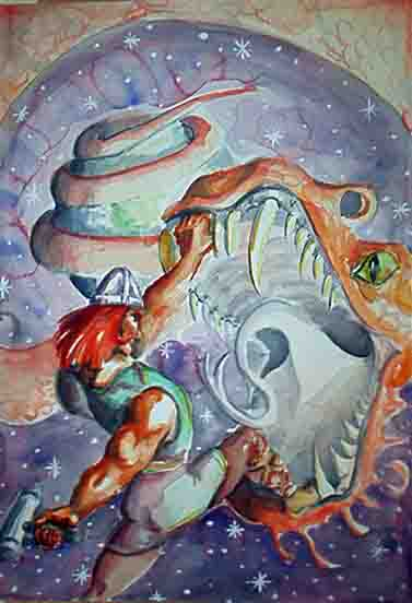 Thor vs Midgard Serpent by happydappy on DeviantArt