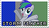 Storm Feather Stamp made by percabethlover123 by Kevinerino