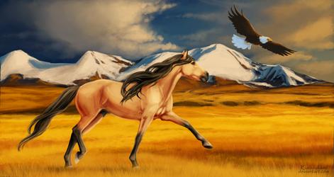 Stallion of the Cimarron by Kurooukami