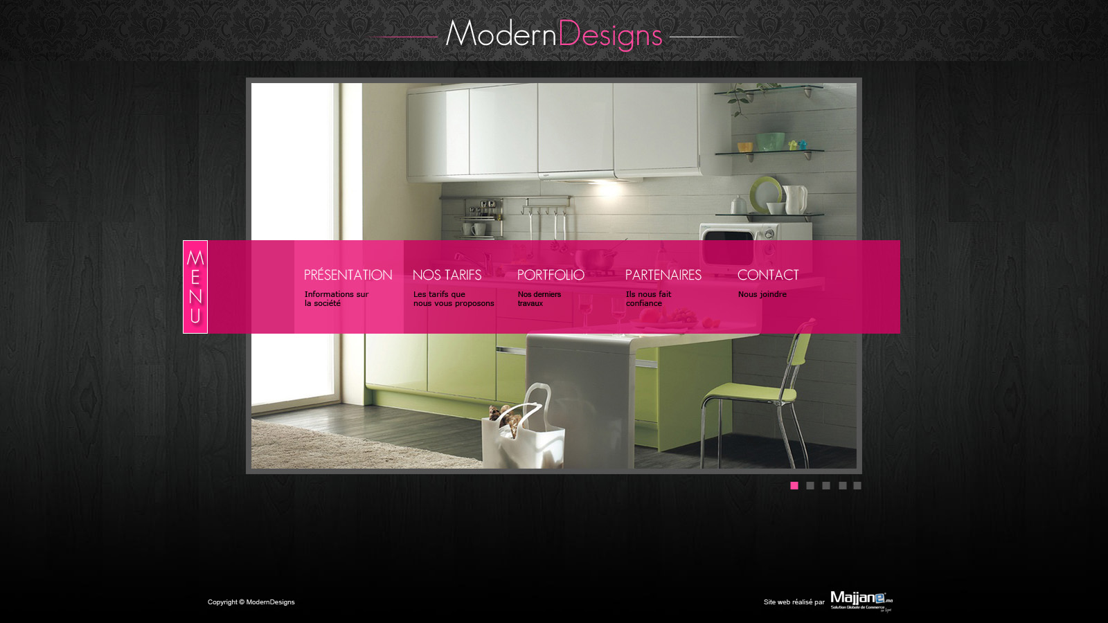 Website Template - Interior Design by mehdiway on DeviantArt