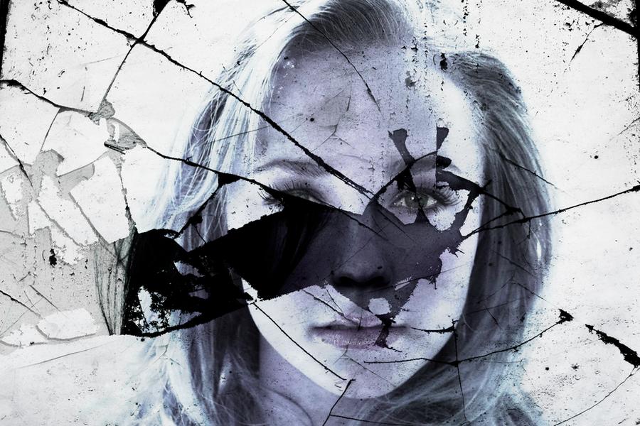 Broken Glass Face by RoarShark on DeviantArt