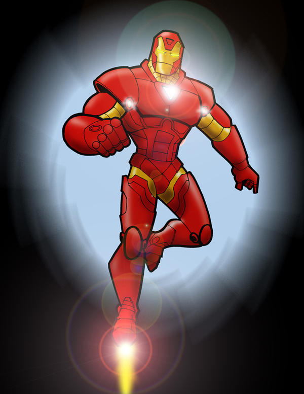 Iron Man Cartoon Drawing Color