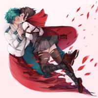 Soulmate(Izuku My Hero Academia Ruby RWBY Commiss) by sikeyourmind