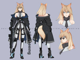 Aresyne (Character Design Commission) by sikeyourmind