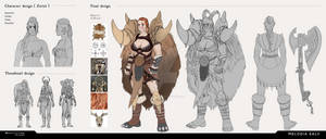 Character design for scholarship application by sikeyourmind