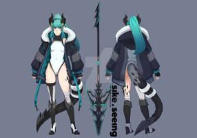 Midori-Dragon-Girl-(Character-Design) by sikeyourmind