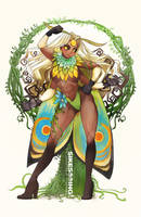 Moth Girl (SFW Commission) by sikeyourmind