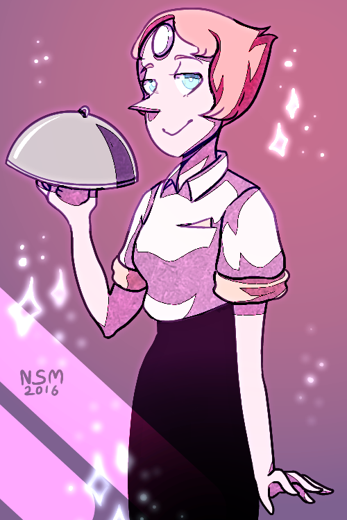 Gorgeus space alien waiter by SongMina