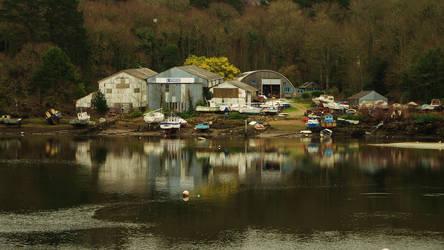 Boatyard on River Goyen