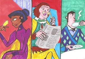 Laika Indoors: Susan, Sir Lionel, Adelina