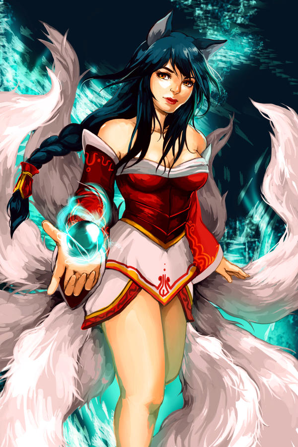 League of Legends: Ahri by betrayal-and-wisdom
