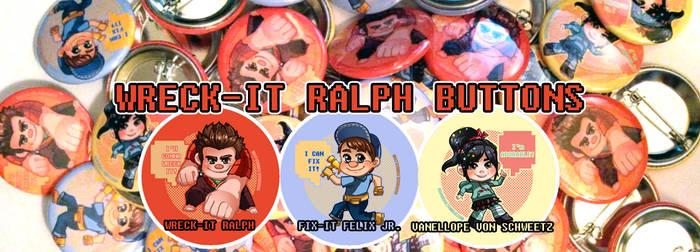 Wreck-It Ralph buttons