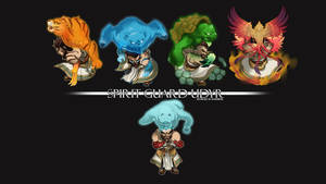 League of Legends: SGU chibis