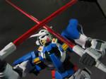 HG 1/144 Gundam Exia with beam sabers.