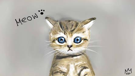 Meow - Kitten Art