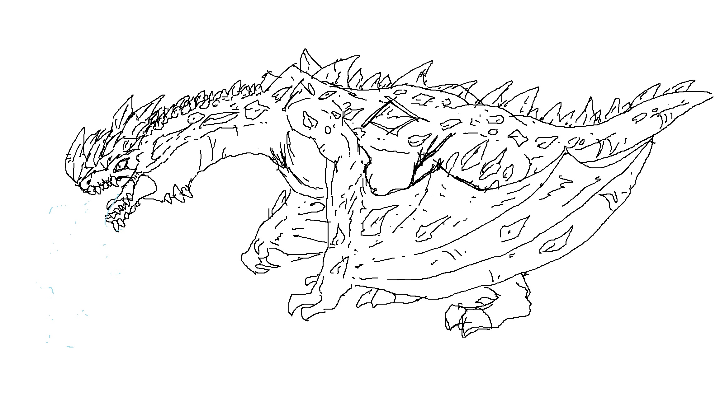Ice Dragons Creatures Coloring Pages. Ice. Best Free ...