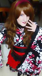Kimono selfie by Godly-Effect