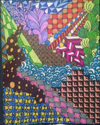 Zentangle Color by Cookie96