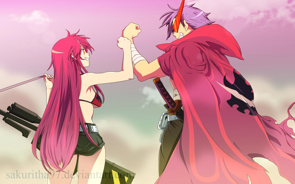 Kamina and Yoko by Sakuritha97 on DeviantArt