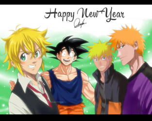 Happy new Year 2019 [Crossover] by Sakuritha97